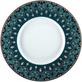 [280mm] Assiette plate - Dhara bleu