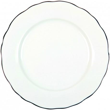 Assiette plate - Colbert Bord Platine