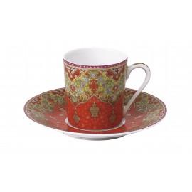 [13cl] Tasse café Europe et sa soucoupe - Dhara
