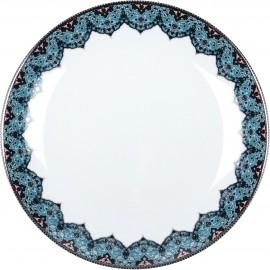 [220mm] Assiette creuse à aile - Dhara bleu