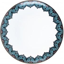 [300mm] Plat plat - Dhara bleu