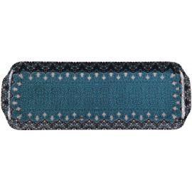 [400x145 mm] Plat à cake - Dhara bleu
