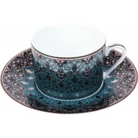 [16cl] Tasse thé et sa soucoupe - Dhara bleu
