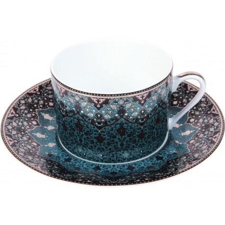 [16cl] Tasse thé - Dhara bleu