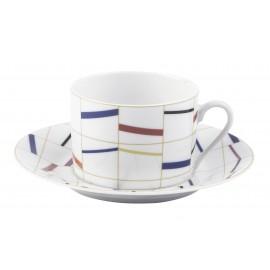 [16cl] Tasse thé et sa soucoupe - Graphique