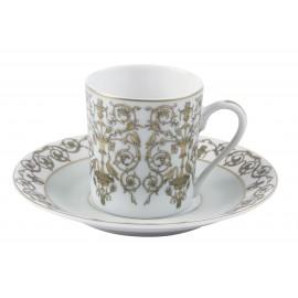 [8cl] Tasse café Jade et sa soucoupe - Tuileries