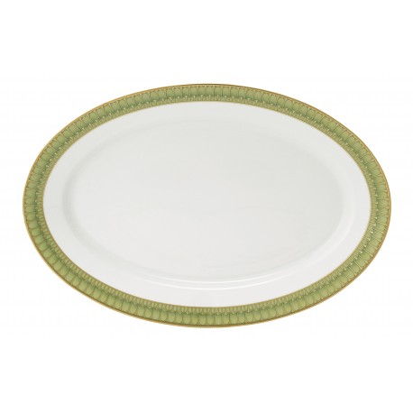 [400x275 mm] Plat ovale - Arcades vert