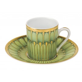 [8cl] Tasse café et sa soucoupe - Arcades vert