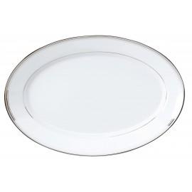 [400x275 mm] Plat ovale - Excellence poudré gris