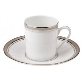 [8cl] Tasse café et sa soucoupe - Excellence poudré gris