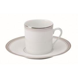 [13cl] Tasse café Europe et sa soucoupe - Excellence poudré gris