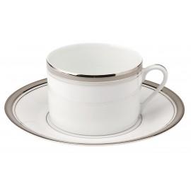[16cl] Tasse thé et sa soucoupe - Excellence poudré gris
