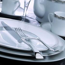 [30cl] Tasse déjeuner et sa soucoupe - Excellence poudré gris