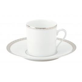 [13cl] Tasse café Europe et sa soucoupe - Parure