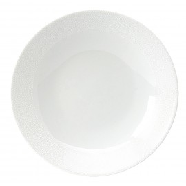 [190mm] Assiette creuse calotte - Seychelles Blanc