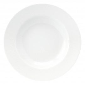 [220mm] Assiette creuse à aile - Seychelles Blanc