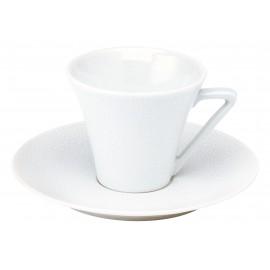 [10cl] Tasse café et sa soucoupe - Seychelles blanc