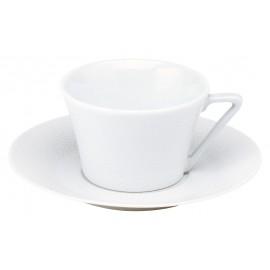[16cl] Tasse thé et sa soucoupe - Seychelles blanc