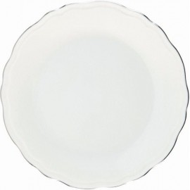[225mm] Assiette creuse à aile - Colbert Platine