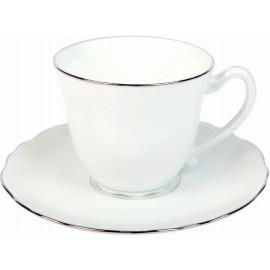 [8cl] Tasse café et sa soucoupe - Colbert Platine