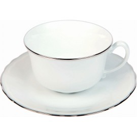[20cl] Tasse thé et sa soucoupe - Colbert Platine