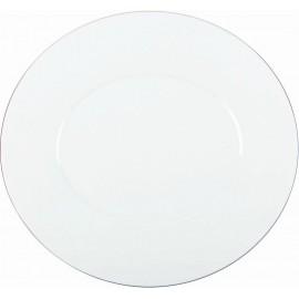 [290x270 mm] Assiette plate - Épure platine
