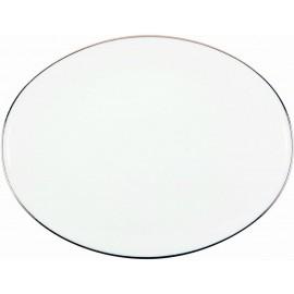 [160x140 mm] Assiette à pain - Épure platine