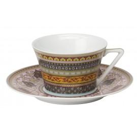 [16cl] Tasse thé et sa soucoupe - Ispahan