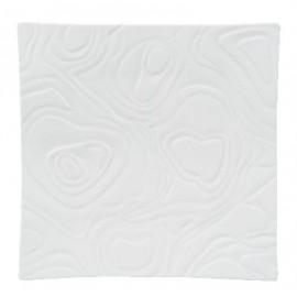 [270x270 mm] Plateau carré blanc - Ardoise