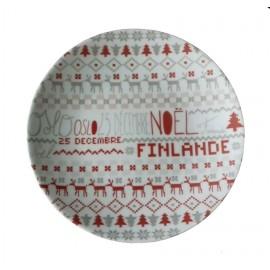[215mm] Assiette plate - Noël Scandinave