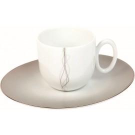 [12cl] Tasse café et sa soucoupe - Lignes folles