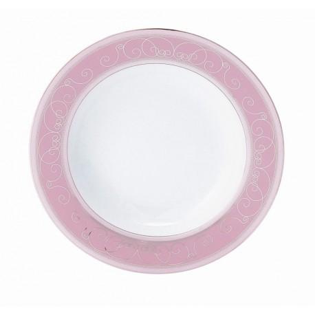 [220mm] Assiette creuse à aile - Margot rose