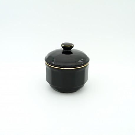 [15cl] Sucrier - Flora Noir filet Or