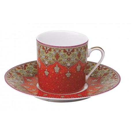 [8cl] Coffret de 2 paires tasses cafés - Dhara