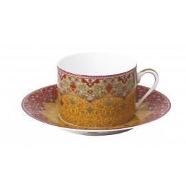 [16cl] 2x Tasses thé et leurs soucoupes - Coffret Dhara