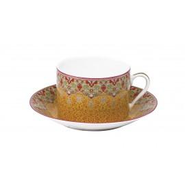 [30cl] 2x Tasses déjeuners et leurs soucoupes - Coffret Dhara