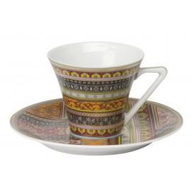[8cl] 2x Tasses café et leurs soucoupes - Coffret Ispahan