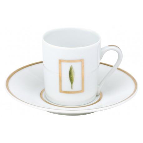 [8cl] 6x Tasses café et leurs soucoupes - Coffret Jardin de Florence
