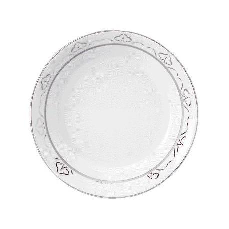 [190mm] Assiette creuse calotte - Margot rose