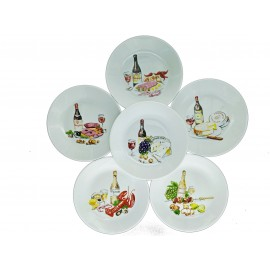 [160mm] Coffret de 6 assiettes cocktail - Rabelais