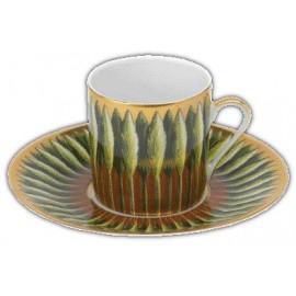 [8cl] Tasse café et sa soucoupe - Jardin de Florence