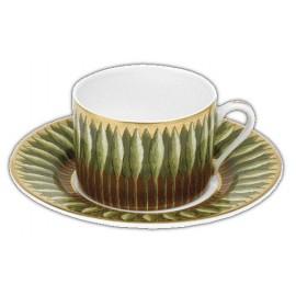 [16cl] Tasse thé et sa soucoupe - Jardin de Florence