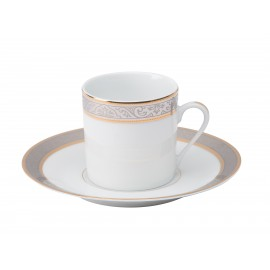[13cl] Tasse café Europe et sa soucoupe - Orléans