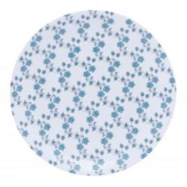 [265mm] Assiette plate - Fleurs bleues