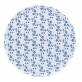 [305mm] Plat à tarte - Fleurs bleues