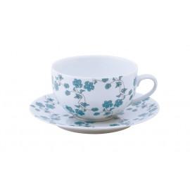 [16cl] Tasse thé et sa soucoupe - Fleurs bleues
