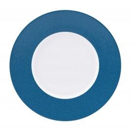 [280mm] Assiette plate - Seychelles bleu