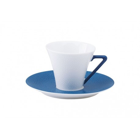 [10cl] Tasse café et sa soucoupe - Seychelles bleu