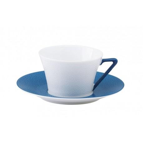 [16cl] Tasse thé et sa soucoupe - Seychelles bleu