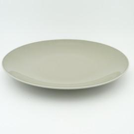 [265mm] Assiette plate coupe - Particules gris